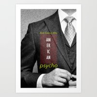 american psycho Art Prints featuring american psycho  by Andy Torres