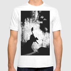 Shadow theatre 2 White Mens Fitted Tee MEDIUM
