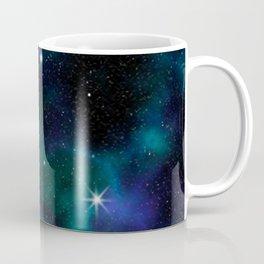 Blue Green Galaxy Coffee Mug