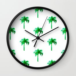 Palm Tree Pattern Wall Clock