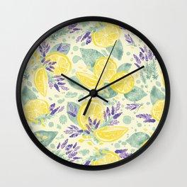 Lavender and Lemonade Blue Wall Clock
