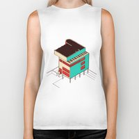 architecture Biker Tanks featuring Music & Architecture by Roland Lefox