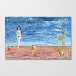 Bean Sprout Canvas Print