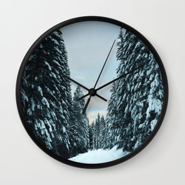 Snow Covered Roads Wall Clock