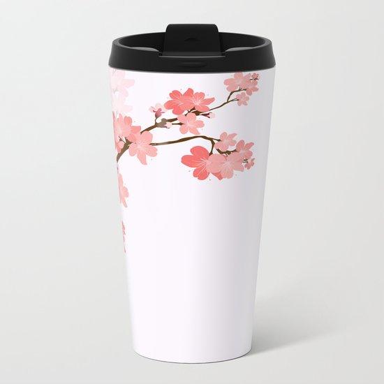 Blooming cherry tree Metal Travel Mug
