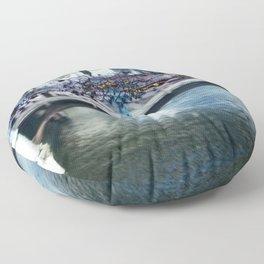 Light Bridge - Light Painting Floor Pillow