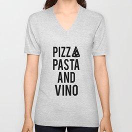 PRINTABLE Art,Pizza Pasta And Vino,Kitchen Wall Art,Bar Decor,Restaurant Decor Unisex V-Neck
