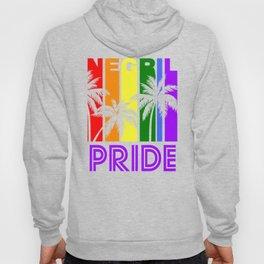 Negril Pride Gay Pride LGBTQ Rainbow Palm Trees Hoody