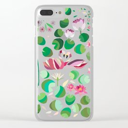 Pond Affair in color Clear iPhone Case