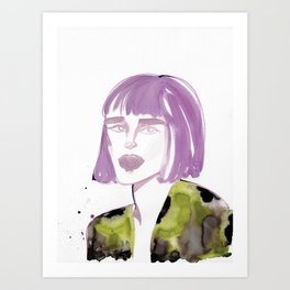Joe with purple hair Art Print