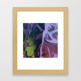 Deep Purple and Green Abstract Framed Art Print