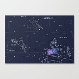Soundwave, Ravage, Laserbeak Star Chart Canvas Print