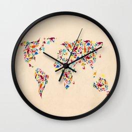 map dinosaur Wall Clock