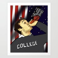 college Art Prints featuring College by BS Brands