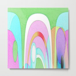 MODRIAN MINION ABSTRACT Metal Print
