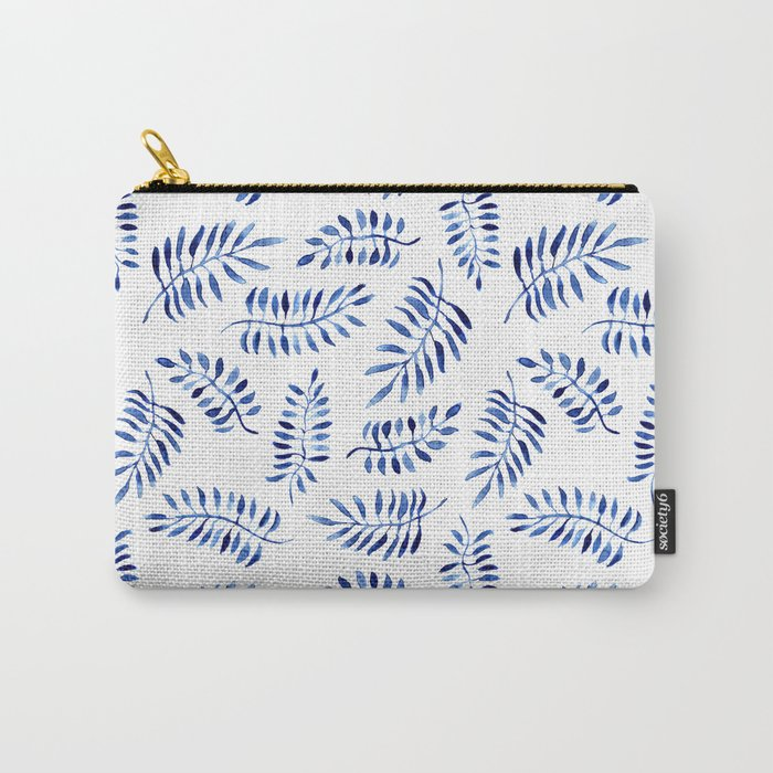 Blue nature || watercolor Carry-All Pouch