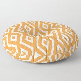 Orange Diamond Pattern Floor Pillow