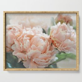 Peach Peonies Serving Tray