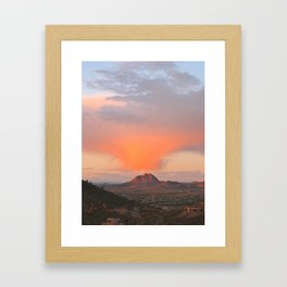 Blowing out the Clouds Framed Art Print