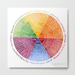 Emotion Wheel Metal Print