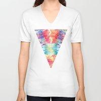 boho V-neck T-shirts featuring Boho by Marta Olga Klara