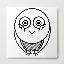 Friendly owl wants attention Metal Print