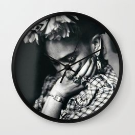 Frida Kahlo Historical Photography Wall Clock
