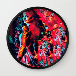 Entire Planets Apart Wall Clock