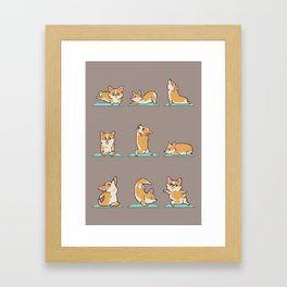 Corgi Yoga Framed Art Print