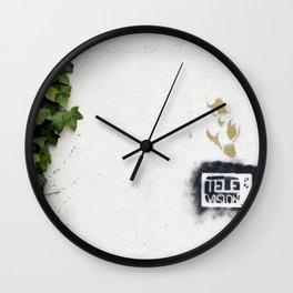 Television versus nature Wall Clock