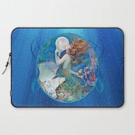 Sensual Art Deco Pearl Mermaid Laptop Sleeve