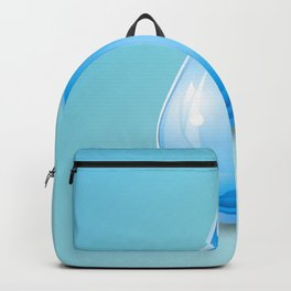 Drop on blue background, world water day Backpack