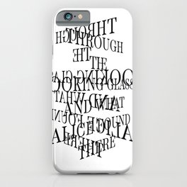 Through the Looking-Glass, and What Alice Found There / Classic Literature iPhone Case