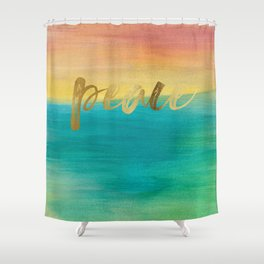 Peace, Ocean Sunset 3 Shower Curtain