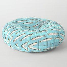 Sardines in the pool Floor Pillow