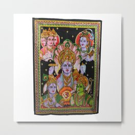 Indian Lord Wall Hanging Tapestry Metal Print