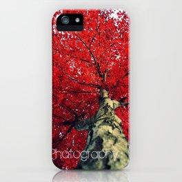 RedAutumnLeaves iPhone Case