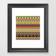 Tribal Aztec Patterns Framed Art Print