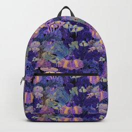 Mysterious Mushrooms - Midnight Pastels Backpack