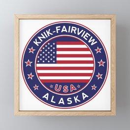 Knik-Fairview, Alaska Framed Mini Art Print