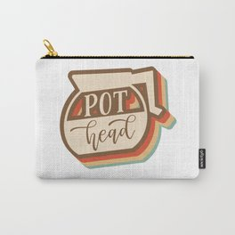 Retro Coffee Pot Head Carry-All Pouch