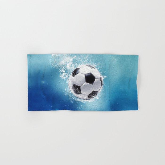 Soccer Water Splash Hand & Bath Towel