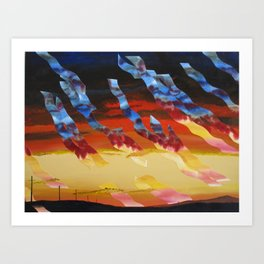 Sea Crest Sunset 7 Art Print