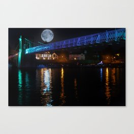 Blue Moon over the Trent Canvas Print
