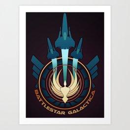 Galactica Tribute Art Print