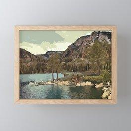 Emerald Bay Lake Tahoe Framed Mini Art Print