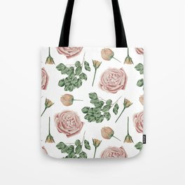 Flower Shop Roses Pattern White Tote Bag
