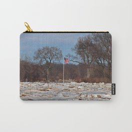 Old Glory on Ice Carry-All Pouch