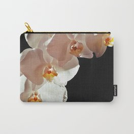 orchid at black Carry-All Pouch