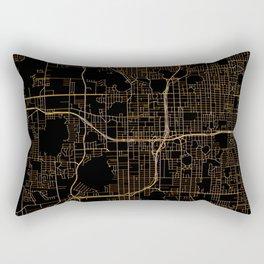 Black and gold Orlando map Rectangular Pillow